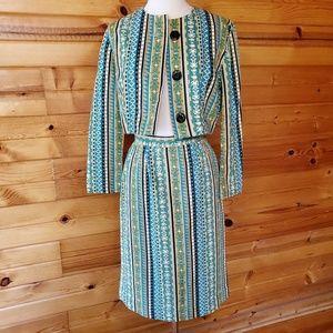 1960s Illegible Label Multi-Color, Corduroy Suit S